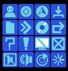 icon technology blue vector image