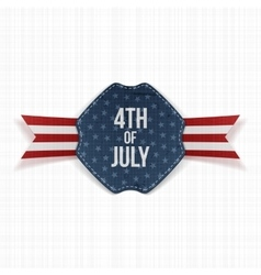 Independence Day 4th of July festive Label vector