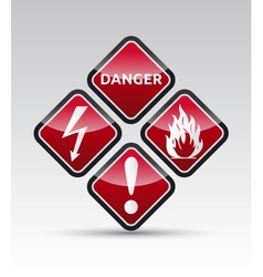 Industrial Warning Icon Stickers vector