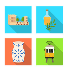 Isolated object and historic icon set and vector