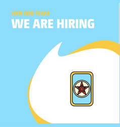 Join our team busienss company card game we are vector