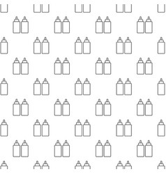 Ketchup mustard squeeze bottle pattern vector