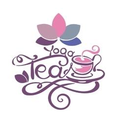 Lettering - Yoga Tea vector image