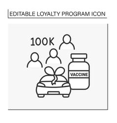 Loyalty program line icon vector