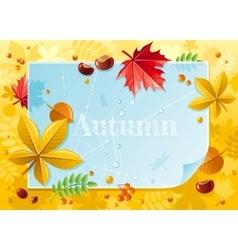 Macro autumn forest pattern vector