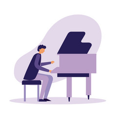 man playing classical piano instrument vector image