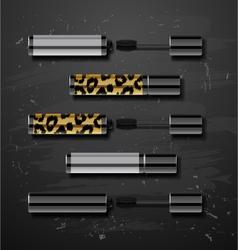 Mascara decorative cosmetics make up accessories vector image
