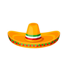 mexican sombrero of traditional hat vector image