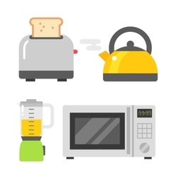 Microwave oven and other tools vector image