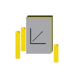 Modern flat icon Report and coins on white vector