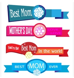 mother day elements vector image