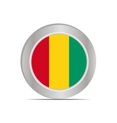 National flag republic guinea vector