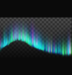 Northern aurora lights strips borealis vector
