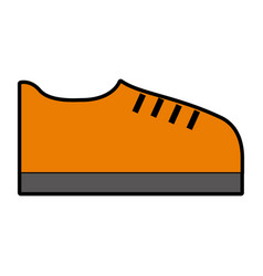 orange shoe cartoon vector image