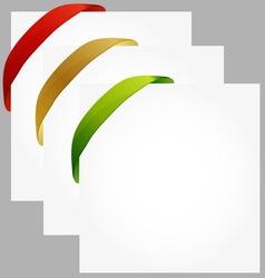 paper with ribbon at corner vector image