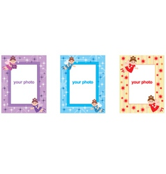 Photo frames with fairys vector