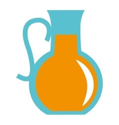 Pitcher with orange liquid icon vector