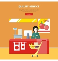 Quality service concept vector