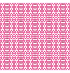 Seamless love pattern Pink hearts and stars vector image