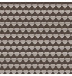 Seamless pattern of striped hearts vector image