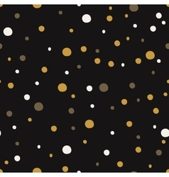 Seamless pattern with dot Christmas backgrounds vector image
