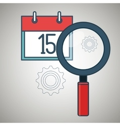 Search calendar date day icon vector