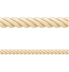 Set ropes seamless elements vector