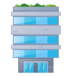 single building made of bricks vector image