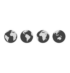 symbol earth globe world planet sign simple vector image