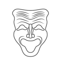 Theatrical masks isolated on white background vector image