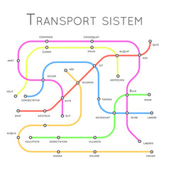Transport system railroad road metro design vector