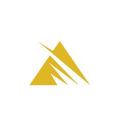 Triangle stripe logo vector