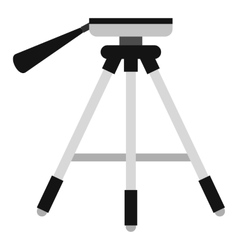 Tripod icon flat style vector