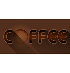 coffee word with coffee stain vector image