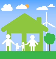 family home design background vector image