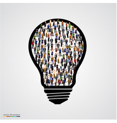 group of people in bulb vector image