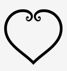 heart outline icon elegant minimal design style vector image