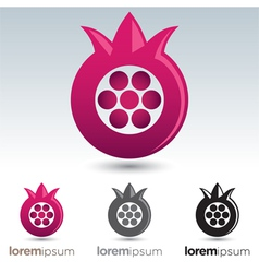 Pomegranate Icon vector image vector image