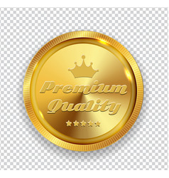 premium quality golden medal icon seal sig vector image vector image