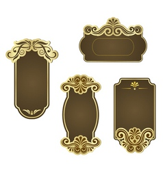 set of retro frames for wedding templates vector image