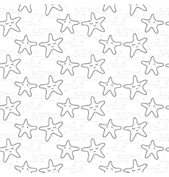 Star stylized line fun seamless pattern for kids vector image