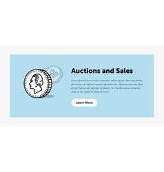 Auction Old ancient coin vector image vector image