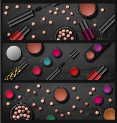 decorative cosmetics make up accessories beauty st vector image vector image