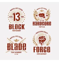 Fight club emblems vector