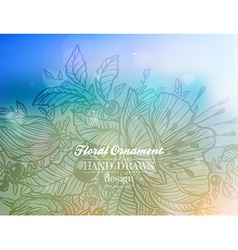 Hand drawn floral ornament vector