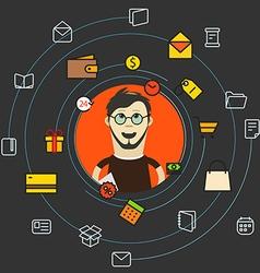 Modern web shopping concept vector image vector image