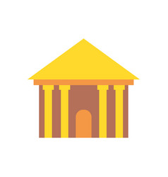 greek temple isolated palace with columns ancient vector image vector image