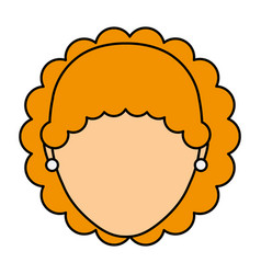 Head young woman icon vector