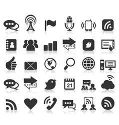 Icon communication4 vector