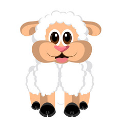 isolated cute sheep vector image vector image